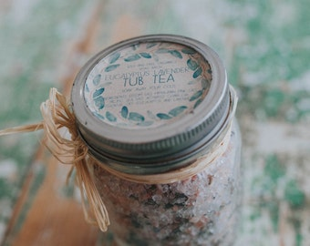 Eucalyptus Lavender Tub Tea Soak Essential Oils Bath Salts
