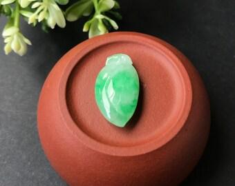 A-Grade Type A Natural Jadeite Jade Green Peach Pendant No.170136