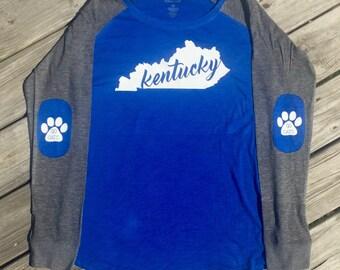 Kentucky Shirt, Elbow patch shirt, preppy patch shirt, kentucky wildcats shirt