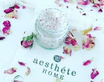 Lip Scrub- Mint &  Rose Petal with Organic Virgin Jojoba Oil