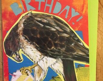 Red Tail Hawk Birthday Card