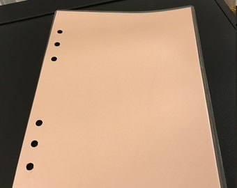 A5 Dashboard - pearl pink front and back