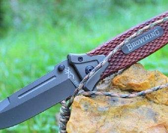 Pocket BROWNING 9.5 cm handle steel blade folding knife resin Outdoor 12 cm