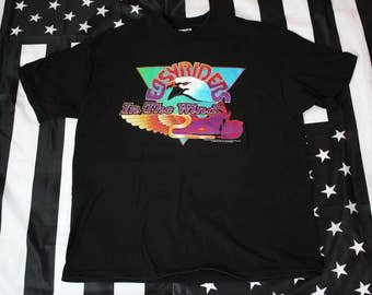 Vintage 90s Easyriders In the Wind 1st Annual 1995 Hilliard Ohio t shirt Size XL Bikers Motorcycles Harley Davidson