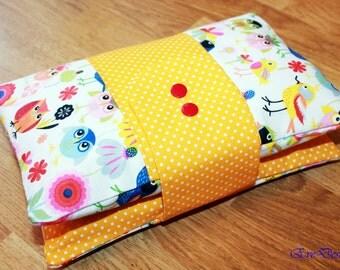 Nappy Wallet (birds, yellow)