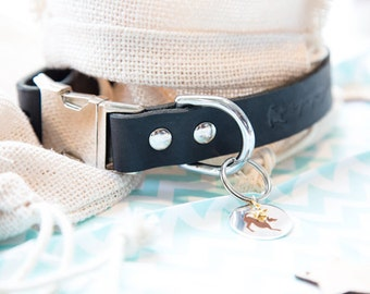 Andalouse - Handcrafted Leather, Adjustable, Quick Release Collar.