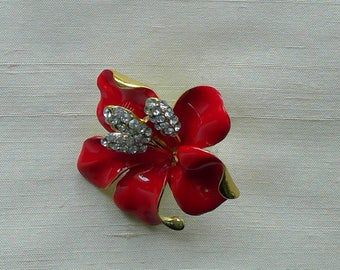 Red Hibiscus Magnetic Pin