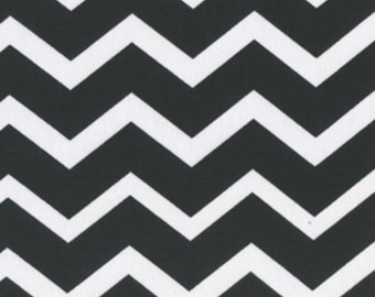 Black & White Chevron Zig Zag fabric, Cotton, quilting, sew, bags, gifts, crafts
