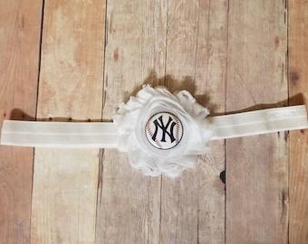 new york yankee headband-yankee headband-New York yankee for baby girl-ny yankee headband-Yankees headband for toddler-ny yankee for newborn