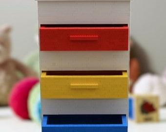 Authentic lego nightstand