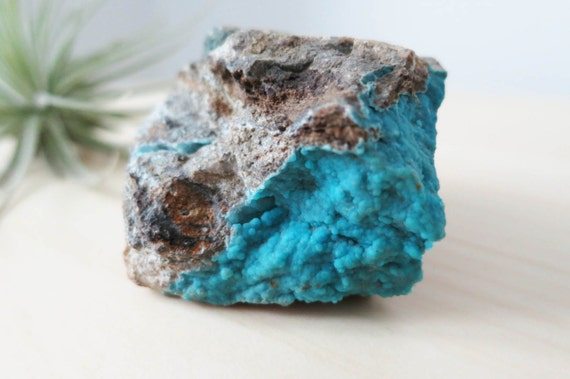 Bubbly Neon Blue Hemimorphite From Wenshan, Yunnan Province of China -  5.5cm x 4.1cm - #48