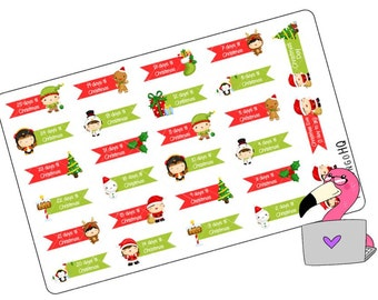 Christmas Countdown - Planner Stickers