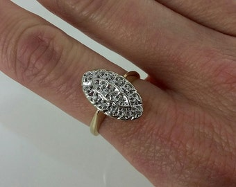 Vintage 1940s 14k Gold Diamond Ring Sz 6.5