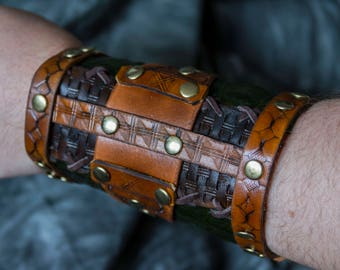 Leather Arm Cuffs