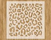 """Leopard Spots Pattern Stencil MINI SERIES - Sku AP0100M (5.5"""" x 5.5"""")"""