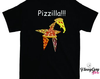Funny Pizza Tee Pizza Lover Tee Pizza Party Shirt Pizza Monster Shirt Pizza Shirt Pizza Lover Tshirt Gift for Her Pizza Tees