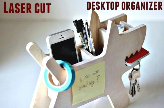 Desk organizer Wooden Pen and Pencil Holder office
