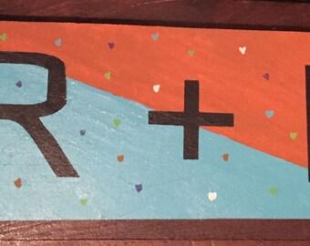 Handmade R + F sign