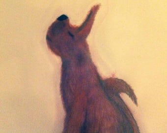 Snobby Dog Acrylic Painting