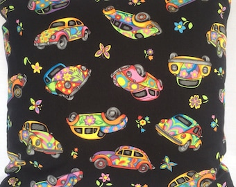 """18"""" Psychedelic Beetle Cars Cushion Cover"""