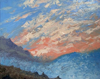 Mountains (OIL PAINTING 35x29 cm)