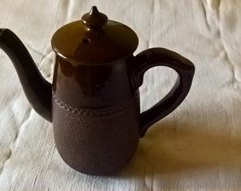 Langley Pottery Teapot/Creamer England Brown Ceramics