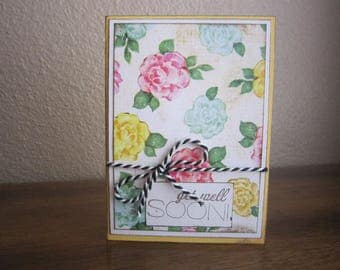 Yellow Get Well Soon Greeting Card
