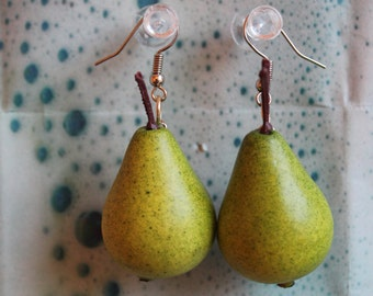 Pear Fruit Earrings