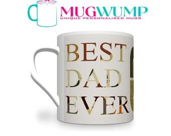 Personalised Father's Day 'Sepia' Mug.Fathers Day Gift. Gift For Father's Day. Dad Mug. Mug for Dad. Personalised Mugs.  Photo Mugs.