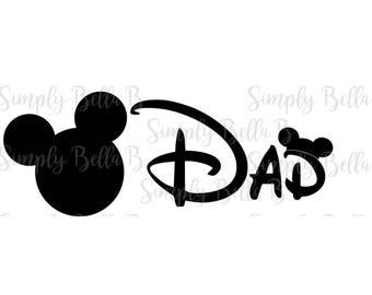 Mickey Dad INSTANT DOWNLOAD Printable Digital Iron-On Transfer Design - DIY