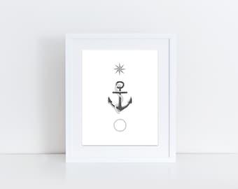 Nautical, Nursery printable, boy