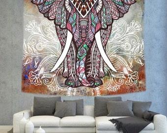 Multi color Mandala wall tapestry, mandala art wall hanging, wall decor tapestry, bohemian wall tapestry