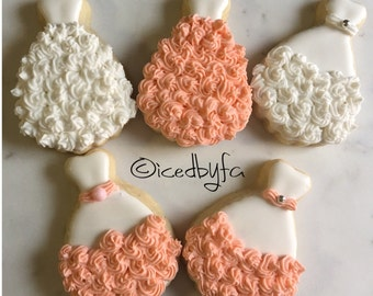 Wedding and Bridal Shower Sugar Cookies | perfect for Sweet 16 cookies | 1 Dozen