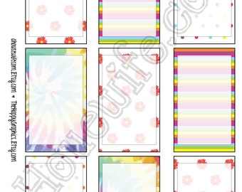 Happy Planner stickers [158] , Full box, A5 PDF, Instant download