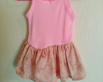 pink onsie dress for baby girl size 0-3 months
