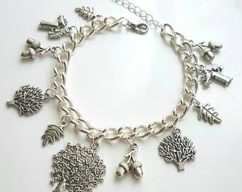 Forest/autumn charm bracelet