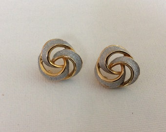 Sparkly Silver & Gold Tone Earrings