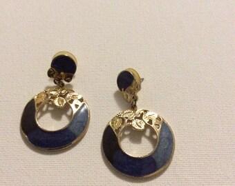 Unique Enamel Dangle Earrings