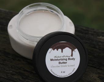 Hydrating chocolate scented organic body butter, preservative and chemical free body lotion, moisturizing body lotion,smooth skin,body cream
