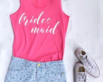 Bridesmaid team Tank Top. Bridal Shirt. Tank Top. Bachelorette Shirt. Bachelorette Tank. Wedding Tank. Bridesmaid Entourage. Party tank.