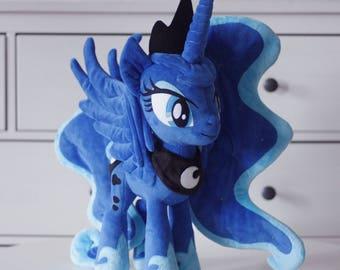 Made to order. Princess Luna Alicorn Plush Toy.