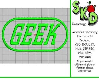 Geek Machine Embroidery Design Applique