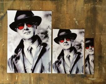 BLACKLIST (Raymond 'Red' Reddington, James Spader): bookmark (marque page), postal card, poster ( fanart)