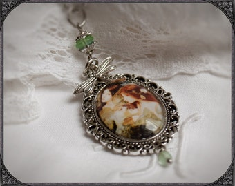 Oval Cabochon necklace Water Nymphs