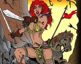 Red Sonja 8.5x11 Art print