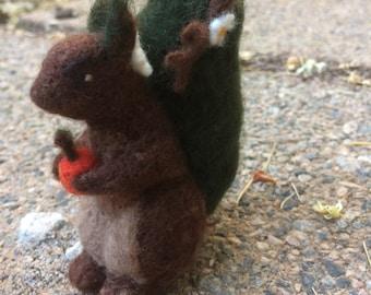 Needle Felted Bush Squirrel