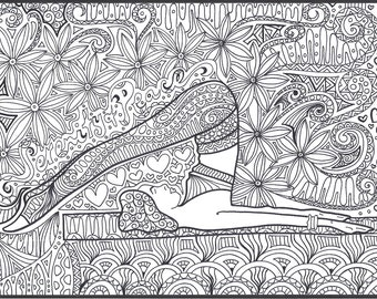 Serenity & Peace Yoga Coloring page download, Adult coloring page, Printable coloring page, yoga, colouring, quote, colouring download.