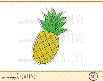 Ananas Embroidery design for badge