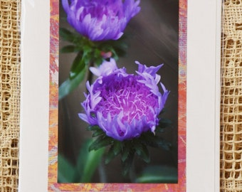 Ethereal pale purple flower note card