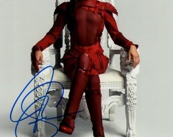 Jennifer Lawrence Hunger Games Autographed  Signed 8 x 10 Photo Print Color